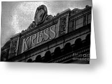 Kress 1929 Greeting Card