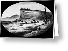 Krieghoff: Canoe On Rapids Greeting Card