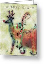 Kris And Rudolph Greeting Card by Arline Wagner