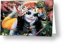 Krishna-sky Boy Greeting Card