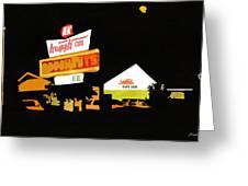 Krispy Kreme At Night Greeting Card