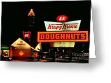Krispy Kreme Doughnuts Atlanta Greeting Card