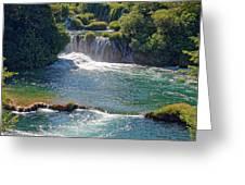 Krka National Park Waterfalls 5 Greeting Card