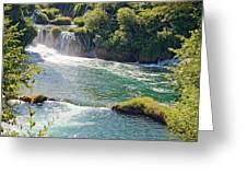 Krka National Park Waterfalls 6 Greeting Card