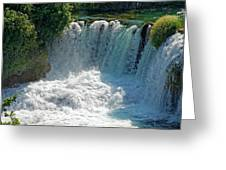 Krka National Park Waterfalls Greeting Card