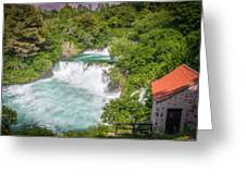 Krka Waterfall Croatia Greeting Card