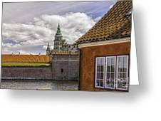 Kronborg Castle From The Moat House Greeting Card