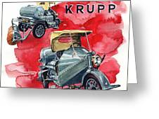 Krupp Street Sweeper Greeting Card