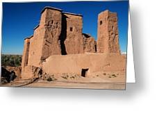 Ksar In The Dades Valley Greeting Card