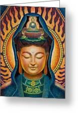 Kuan Yin Flame Greeting Card