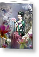 Kuan Yin Lotus Of Healing Greeting Card