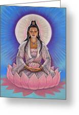 Kuan Yin Greeting Card by Sue Halstenberg