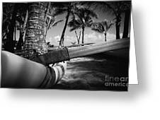 Kuau Palm Trees Hawaiian Outrigger Canoe Paia Maui Hawaii Greeting Card