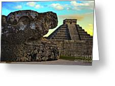 Kukulkan Pyramid At Chichen Itza In The Yucatan Of Mexico Greeting Card