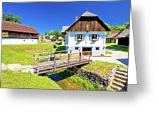 Kumrovec Picturesque Village In Zagorje Region Of Croatia Greeting Card