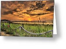 Kure Beach Sunrise Greeting Card