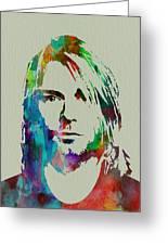 Kurt Cobain Nirvana Greeting Card