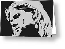 Kurt Cobain Poster Art Greeting Card