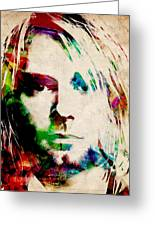 Kurt Cobain Urban Watercolor Greeting Card