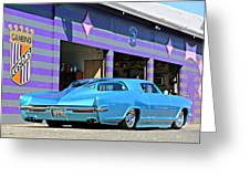 Kustom On The Riviera  Greeting Card