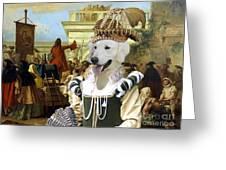 Kuvasz Art Canvas Print - The Charlatan Greeting Card