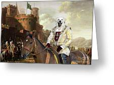 Kuvasz Art Canvas Print - The Enchanted Forest Greeting Card