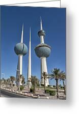 Kuwait Towers In Kuwait City, Kuwait Greeting Card