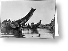 Kwakiutl Canoes, C1914 Greeting Card by Granger