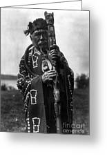 Kwakiutl Chief, C1914 Greeting Card