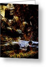 Kwan Yin Meditates Greeting Card