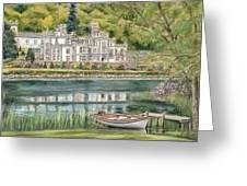 Kylemore Abbey Connemara Galway Greeting Card by Vanda Luddy