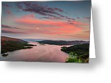 Kyles Of Bute In Twilight Greeting Card