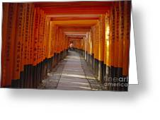 Kyoto Torii Greeting Card