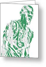 Kyrie Irving Boston Celtics Pixel Art 42 Greeting Card