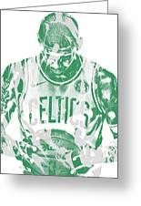 Kyrie Irving Boston Celtics Pixel Art 5 Greeting Card