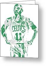 Kyrie Irving Boston Celtics Pixel Art 8 Greeting Card