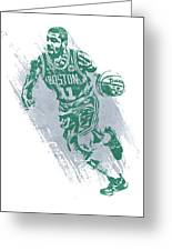 Kyrie Irving Boston Celtics Water Color Art 2 Greeting Card