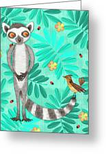 L Is For Lemur And Lark Greeting Card
