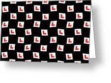 L-plate Wallpaper Greeting Card