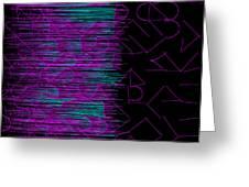 l14-FF00DD-3x3-1200x1200 Greeting Card