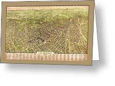 La Antique Map Greeting Card