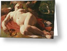 La Bacchante Greeting Card by Gustave Courbet