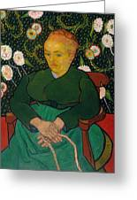 La Berceuse. Woman Rocking A Cradle. Augustine-alix Pellicot Roulin Greeting Card