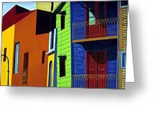 La Boca Street Scene One Greeting Card