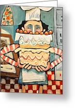 La Boulanger Francaise Greeting Card