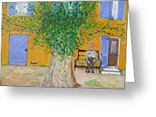 La Campagne Argent De Oncle Charles. Greeting Card