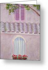 La Casa Rosa Lunga Il Treve Greeting Card