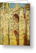 La Cathedrale De Rouen Le Portail Et La Tour Saint-ro Claude Oscar Monet Greeting Card