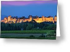 La Cite Carcassonne Greeting Card by Brian Jannsen