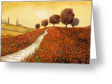 La Collina Dei Papaveri Greeting Card